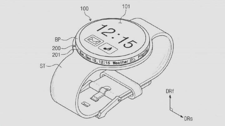 brevet montre samsung ecran incurve
