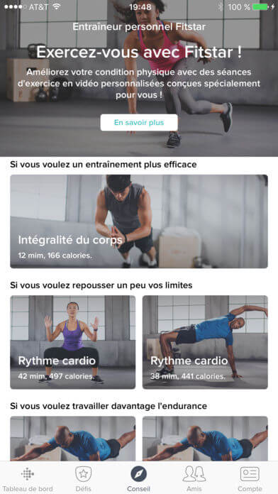 seances exercices fitbit